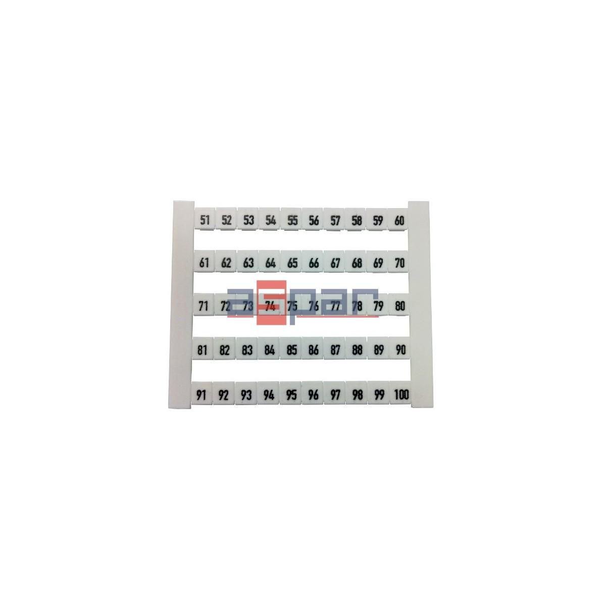Oznacznik poziomy DEK 5 FW 51-100, 00473460051