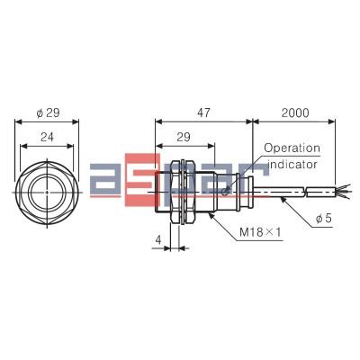 PR18-5DP - cylindryczny M18