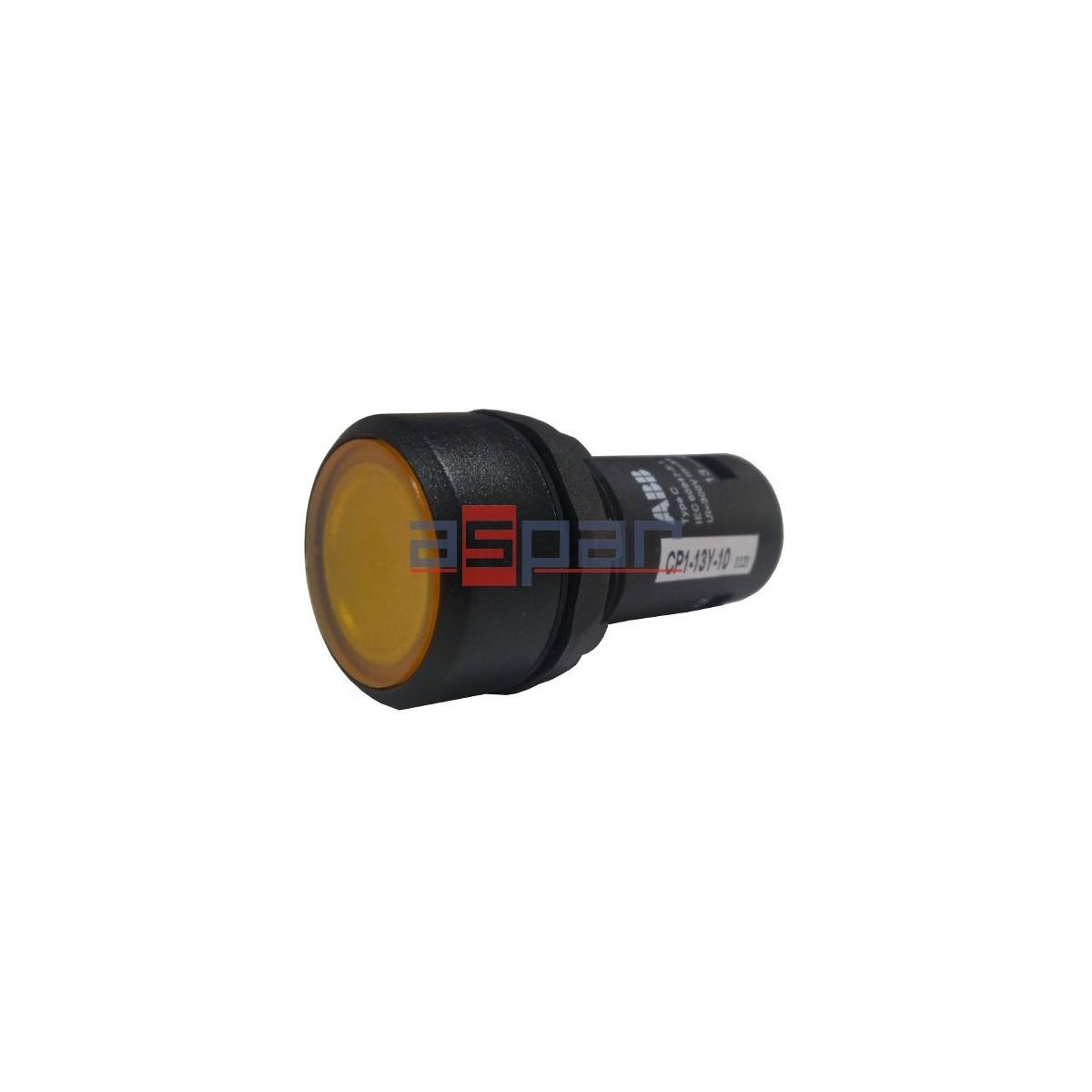 Przycisk podświetlany CP1-13Y-10, 230V AC/DC