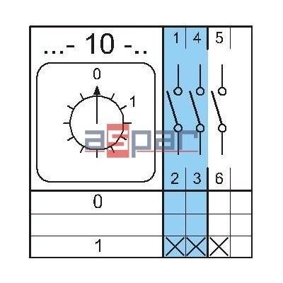 4G40-10-U S25 - rozłącznik 3-fazowy 0 - 1