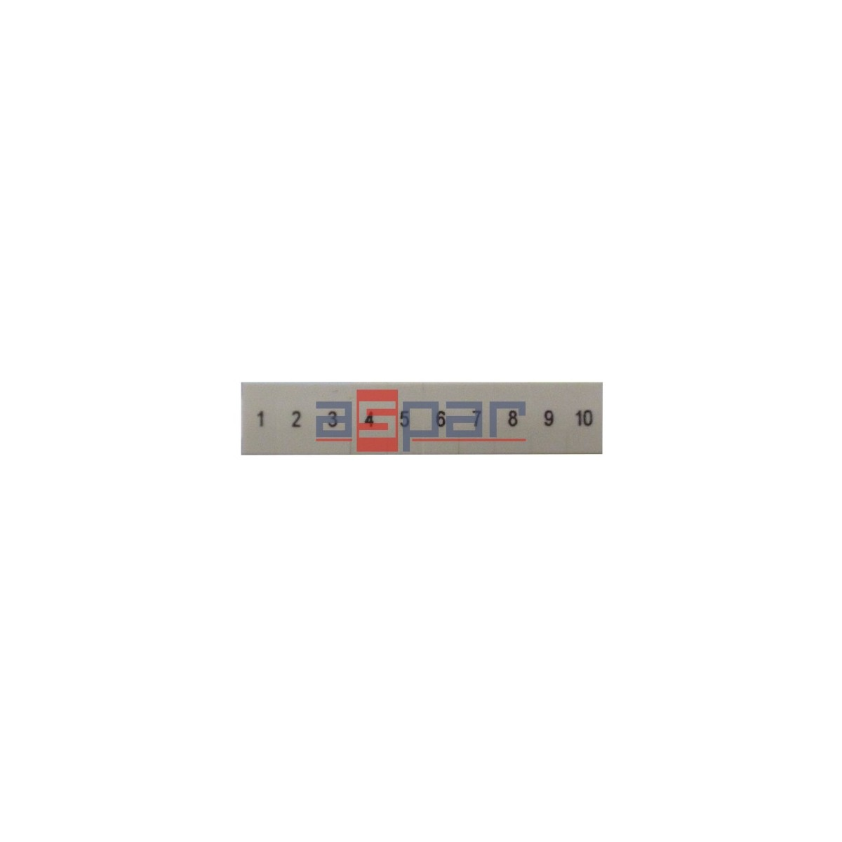 ZB 5,LGS:FORTL.ZAHLEN 1-10 - oznacznik do złączek UT 2,5