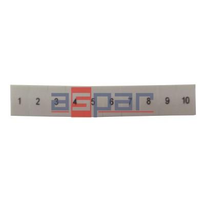 ZB 6,LGS:FORTL.ZAHLEN 1-10 - oznacznik do złączek UT 4