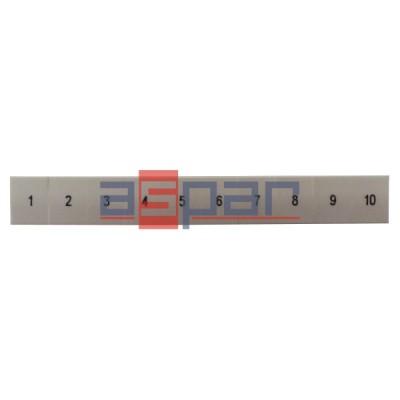 ZB 8,LGS:FORTL.ZAHLEN 1-10 - oznacznik do złączek UT 6