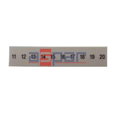 ZB 5,LGS:FORTL.ZAHLEN 11-20 - oznacznik do złączek UT 2,5