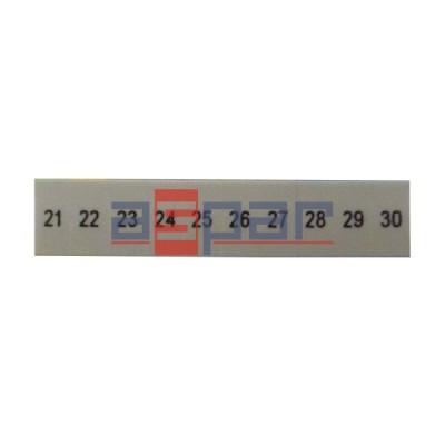 ZB 5,LGS:FORTL.ZAHLEN 21-30 - oznacznik do złączek UT 2,5