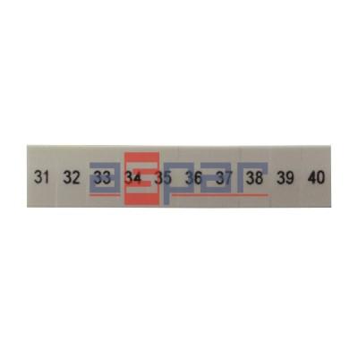 ZB 5,LGS:FORTL.ZAHLEN 31-40 - oznacznik do złączek UT 2,5