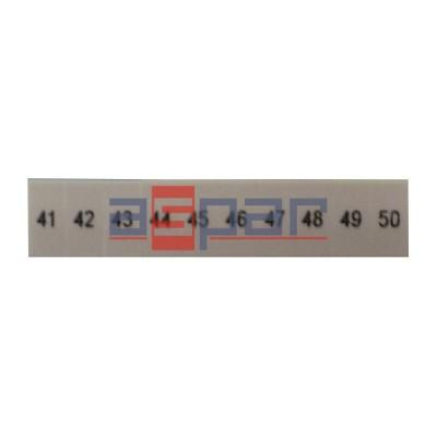 ZB 5,LGS:FORTL.ZAHLEN 41-50 - oznacznik do złączek UT 2,5