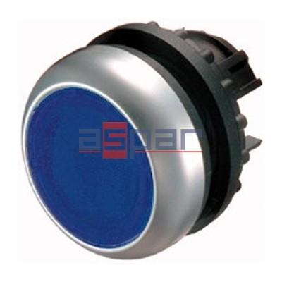 M22-DL-B, 216931, przycisk z samopowrotem, podświetlany, niebieski