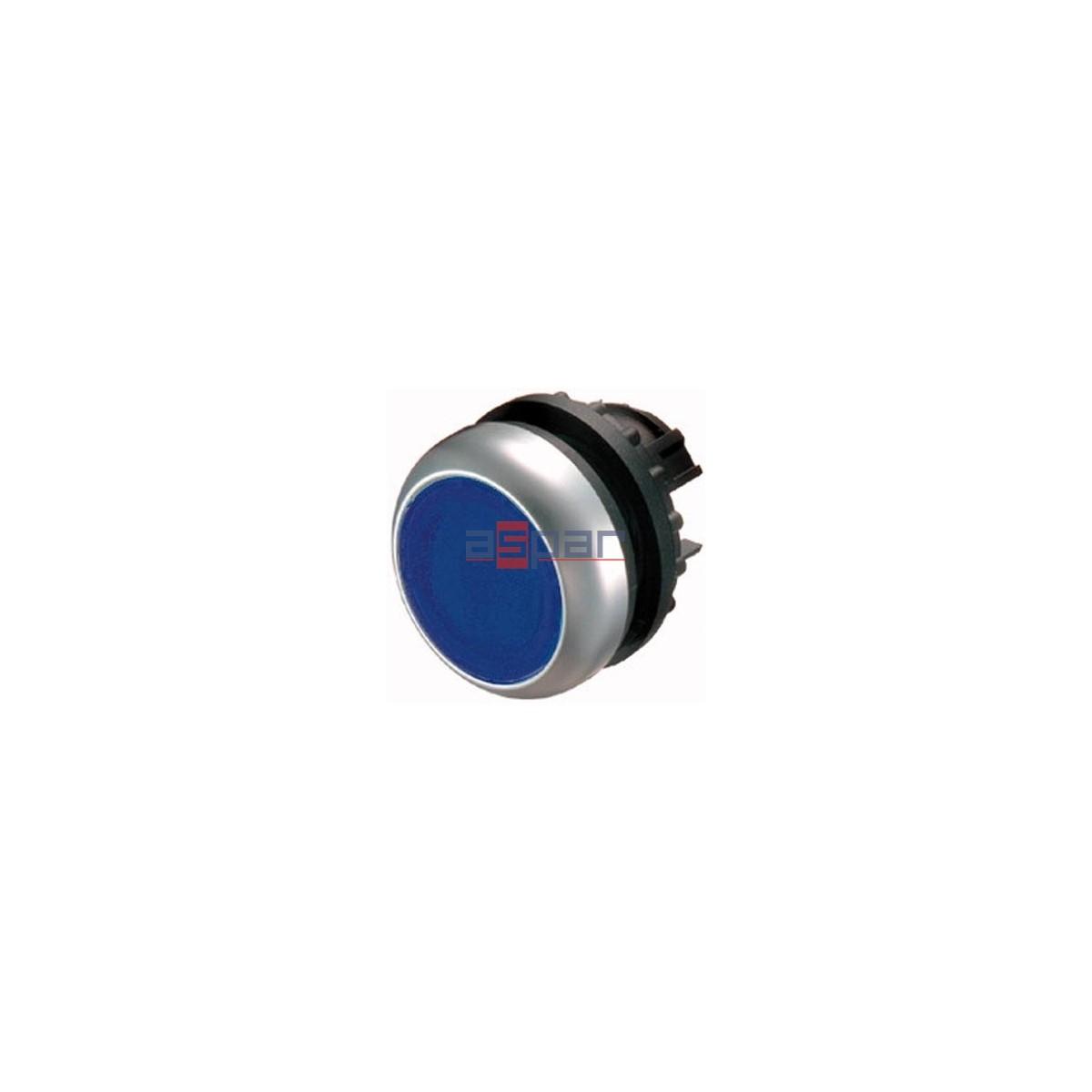 Przycisk z samopowrotem, podświetlany, niebieski, M22-DL-B, 216931