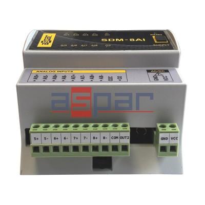 8 wej. analogowych, SDM-8AI