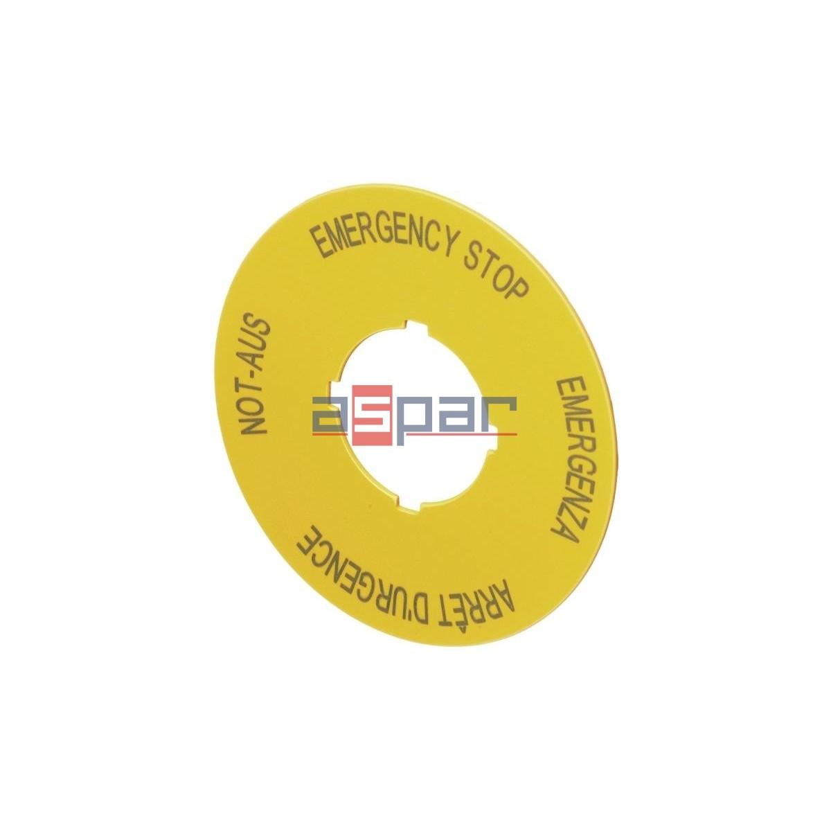 Szyld pod przycisk bezpieczeństwa, M22-XAK1, 216465