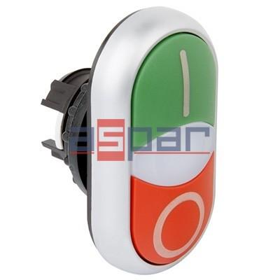 Napęd przycisków podwójnych z samopowrotem podświetlany, M22-DDL-GR-X1/X0, 216700