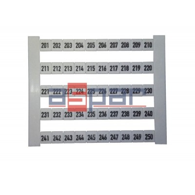 Oznacznik poziomy DEK 5 FW 201-250, 0473460201
