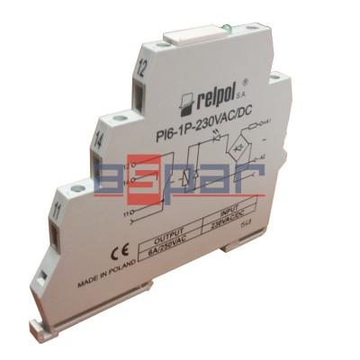 PI6-1P-230VAC/DC (SZARE)(CE)