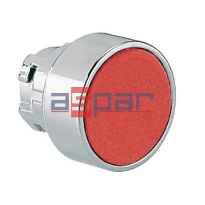 Przycisk, metalowy, płaski, czerwony, 8LM2TB104
