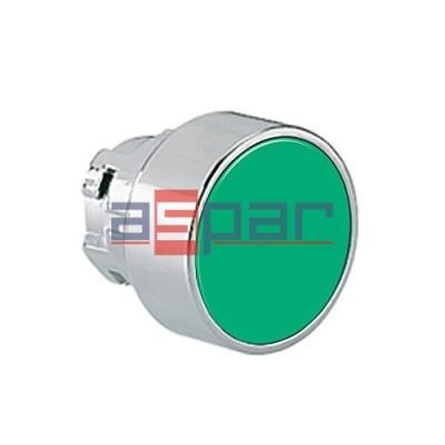 Przycisk, metalowy, płaski, zielony, 8LM2TB103