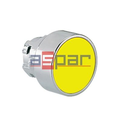 Przycisk, metalowy, płaski, żółty, 8LM2TB105