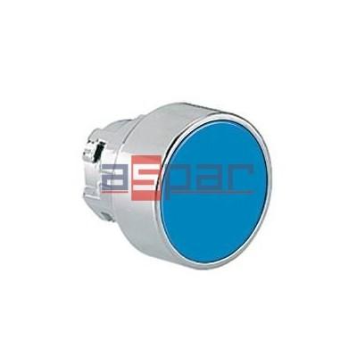 Przycisk, metalowy, płaski, niebieski, 8LM2TB106