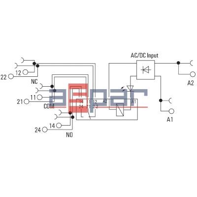 Przekaźnik, 2CO, 8A, 230VAC/DC, TRZ 230VUC 2CO