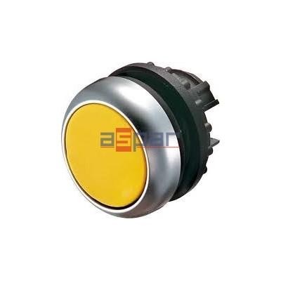 M22-D-Y, 216598, przycisk z samopowrotem, płaski, żółty
