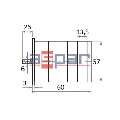 4G10-92-U - łącznik 4-biegunowy 0 - 1