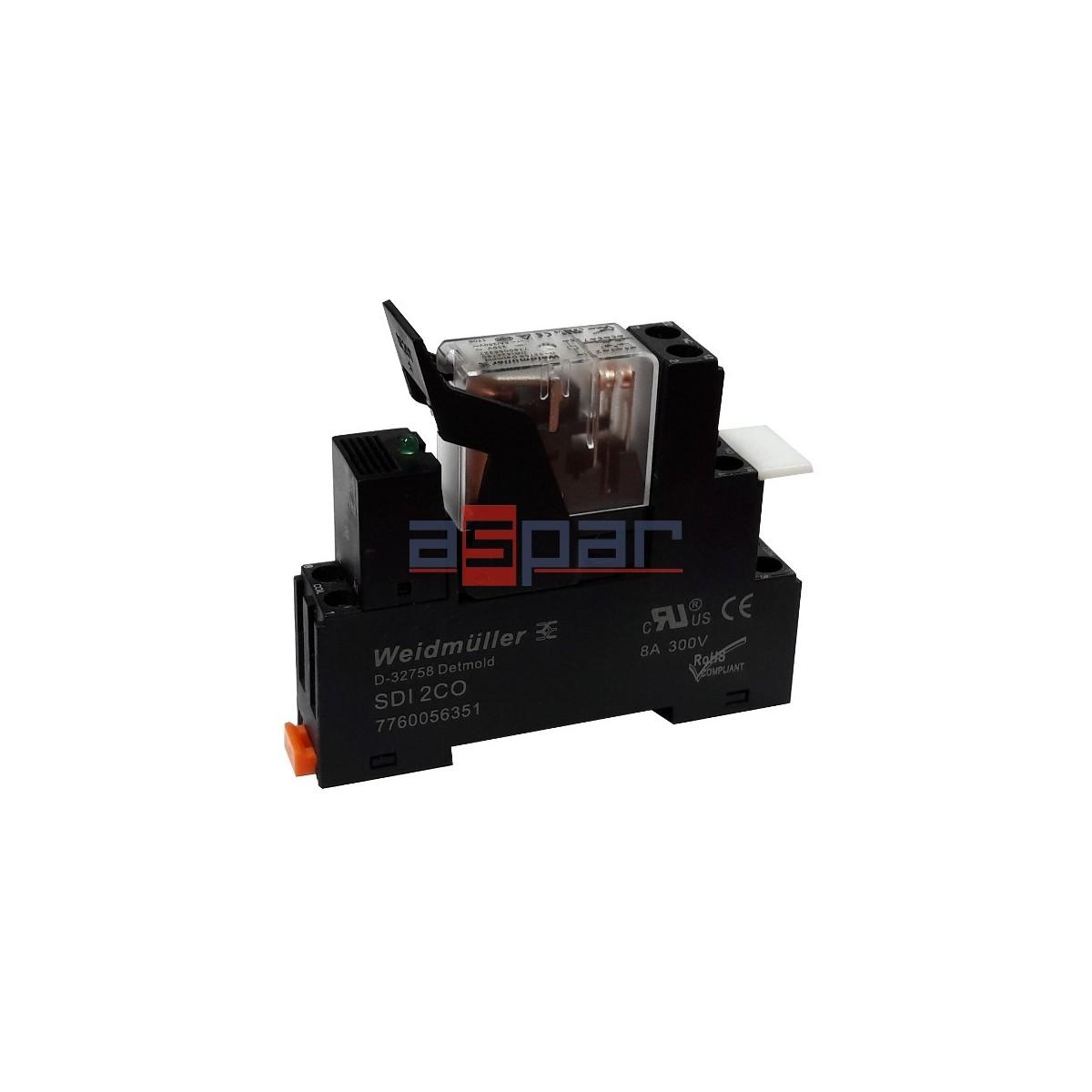 Przekaźnik kompletny, ZEST-DRI-230AC-2CO-5A-LED