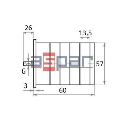 4G16-10-U S25 - rozłącznik 3-fazowy 0 - 1