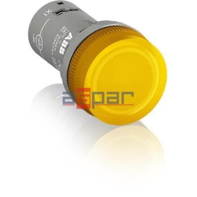 CL2-502Y, lampka sygnalizacyjna, żółta, 24V DC/AC, 1SFA619403R5023
