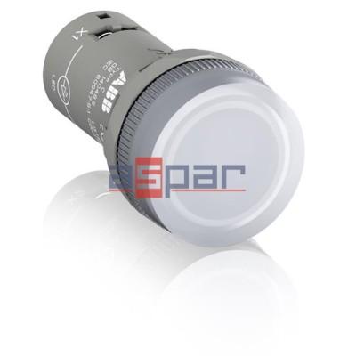 CL2-523C, lampka sygnalizacyjna, biała, 230VAC, 1SFA619403R5238