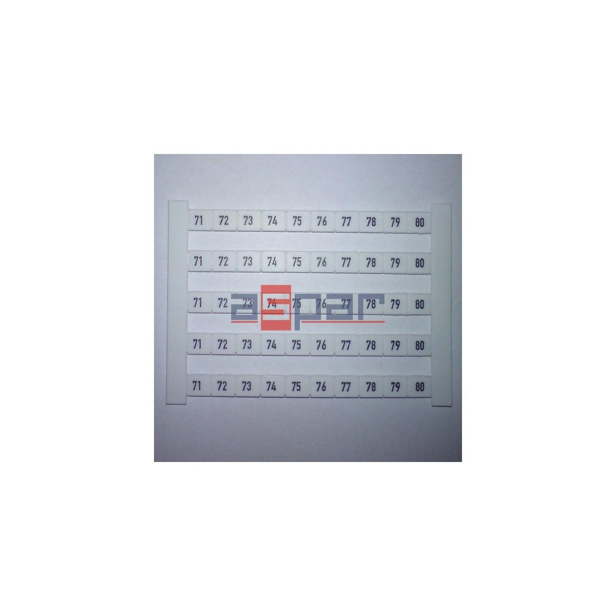 Oznacznik poziomy DEK 6 FWZ 71-80, 0518960071