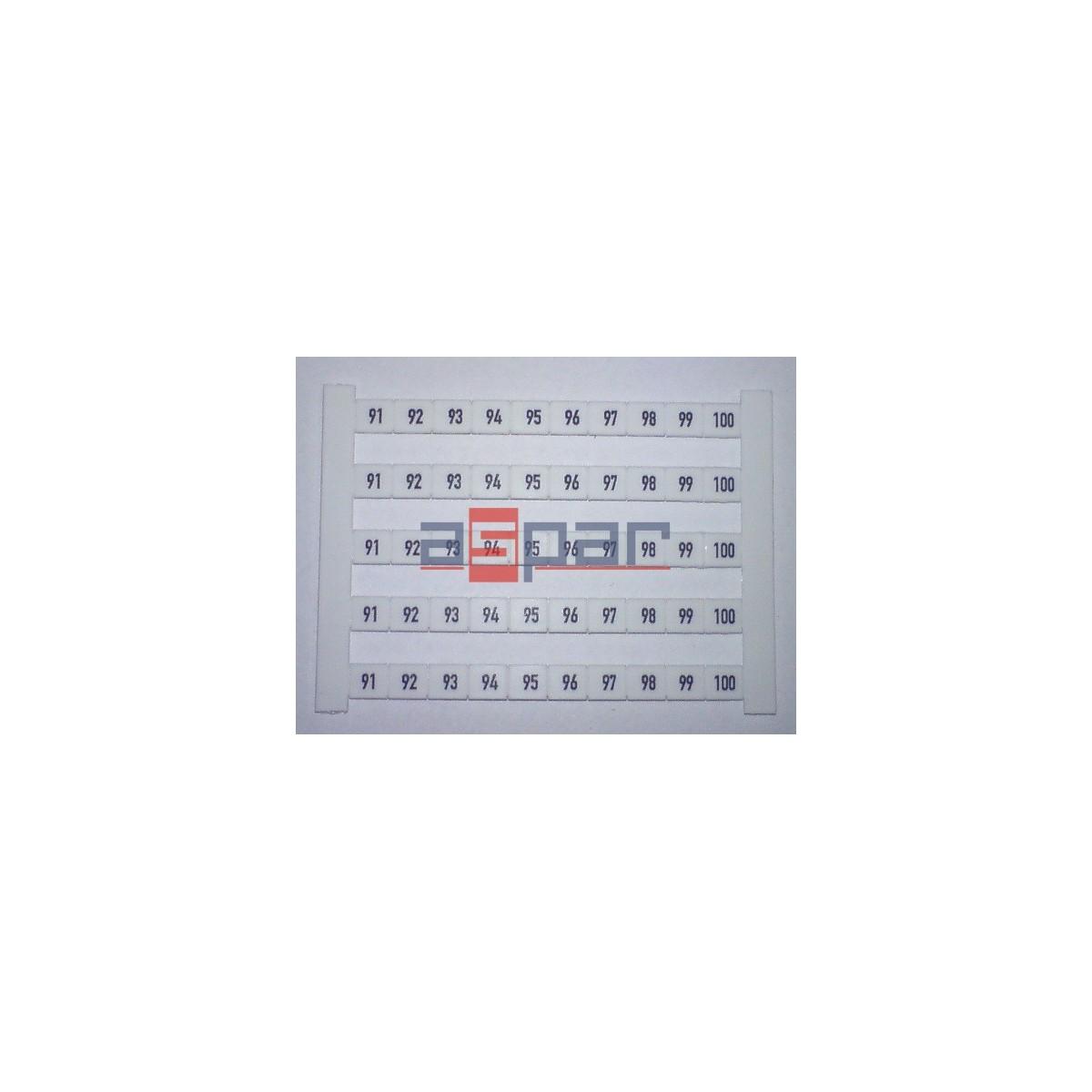 Oznacznik poziomy DEK 6 FWZ 91-100, 0518960091