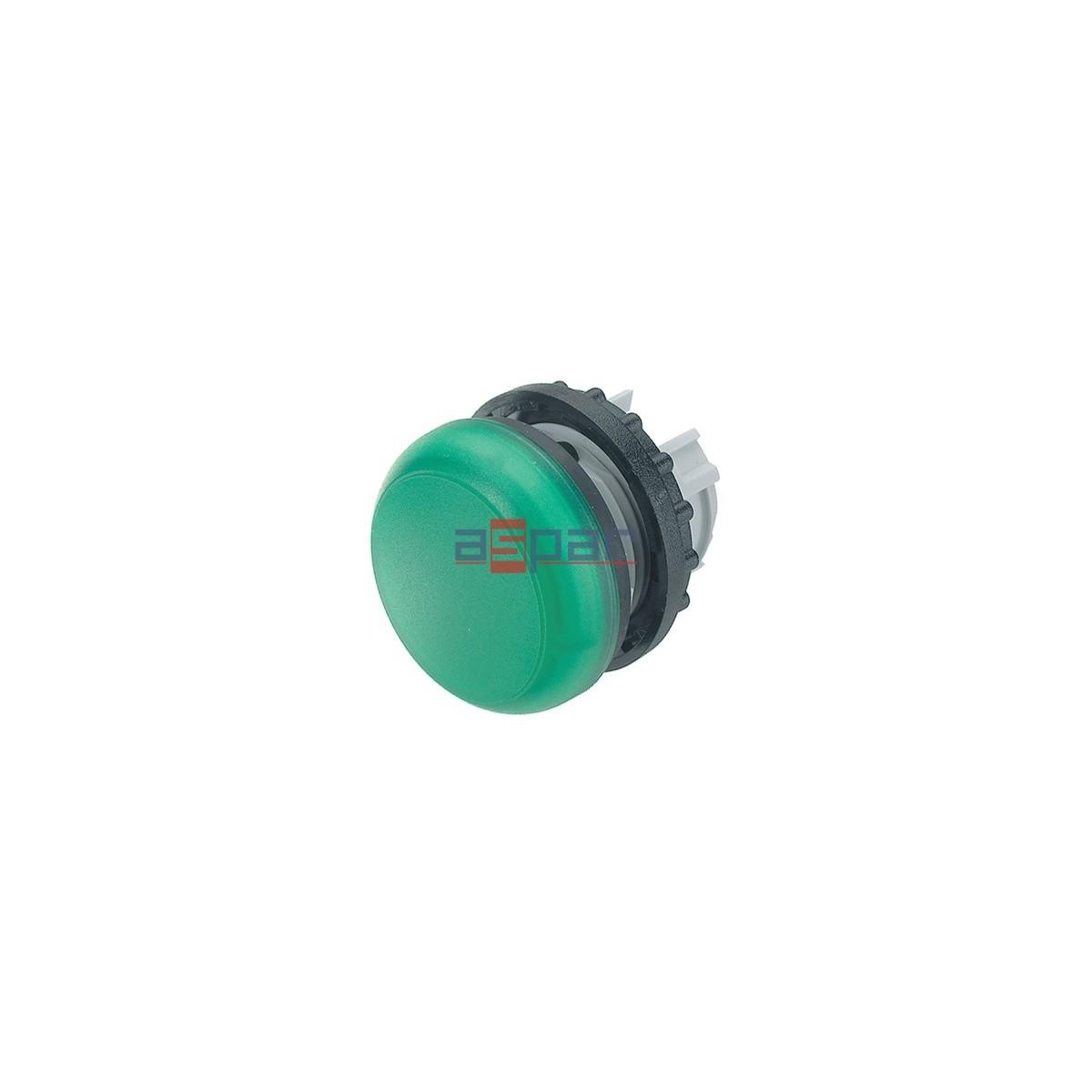 Główka lampki sygnalizacyjnej, płaska, zielona, M22-L-G, 216773