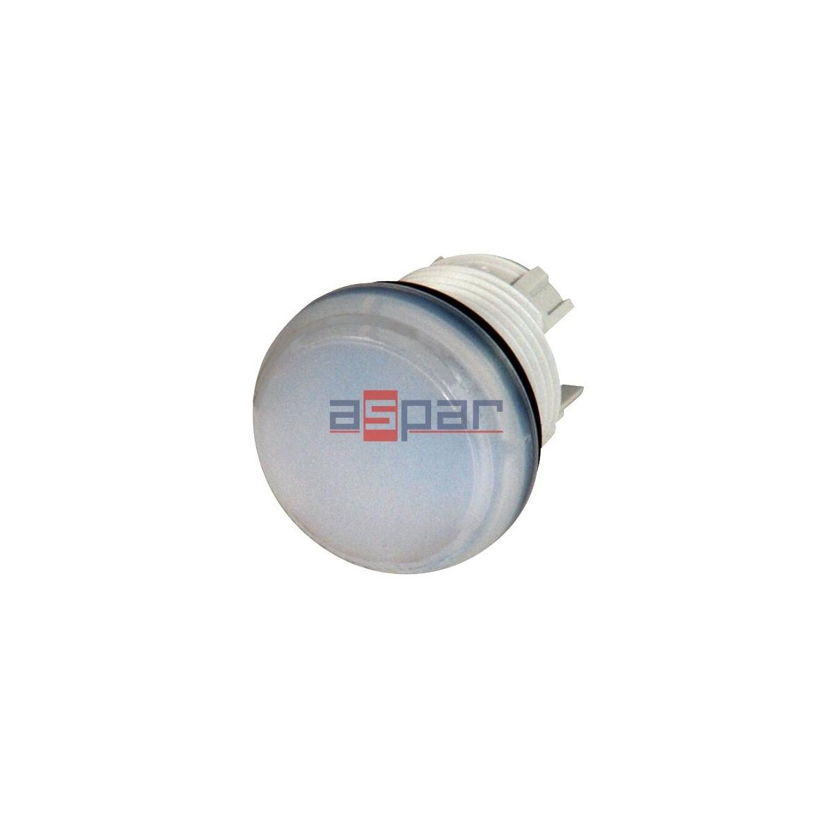 Główka lampki sygnalizacyjnej, płaska, biała, M22-L-W, 216771