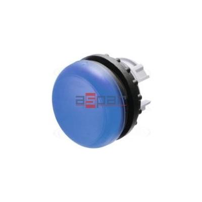 Główka lampki sygnalizacyjnej, płaska, niebieska, M22-L-B, 216775