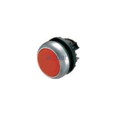 Przycisk z samopowrotem, płaski, czerwony, M22-D-R, 216594
