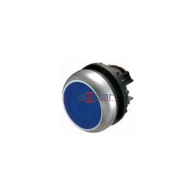 M22-D-B, 216600, przycisk z samopowrotem, płaski, niebieski
