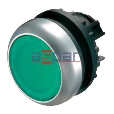 M22-DL-G, 216927, przycisk z samopowrotem, podświetlany, zielony
