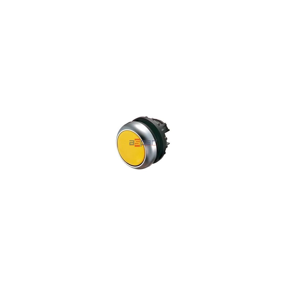 Przycisk z samopowrotem, podśwoetlany, żółty, M22-DL-Y, 216929