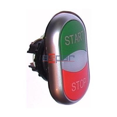 M22-DDL-GR-GB1/GB0, 216702, napęd przycisków podwójnych z samopowrotem, podświetlany