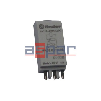 Moduł LED+warystor 110-240V AC/DC , 99.02.0.230.98