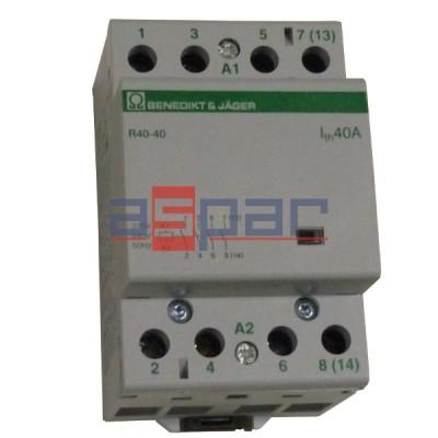 Stycznik modułowy 40A, 4-polowy, 4xNO, 230VAC, R40-40-230-000