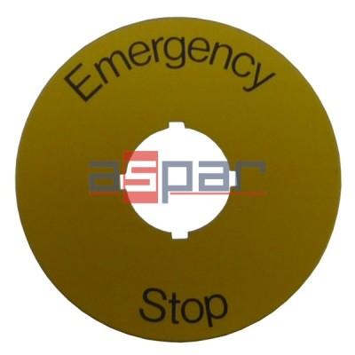 "Tabliczka ""Emergency Stop"" SK615546-2"