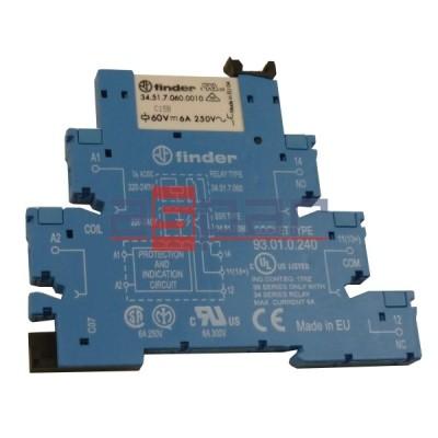Przekaźnik, 1CO, 6A, 230-240VAC, 38.51.0.240.0060
