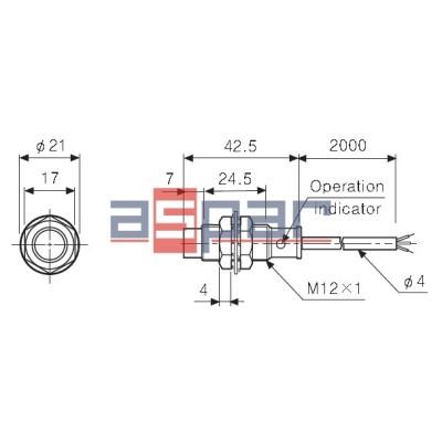 PR12-4DP - cylindryczny M12