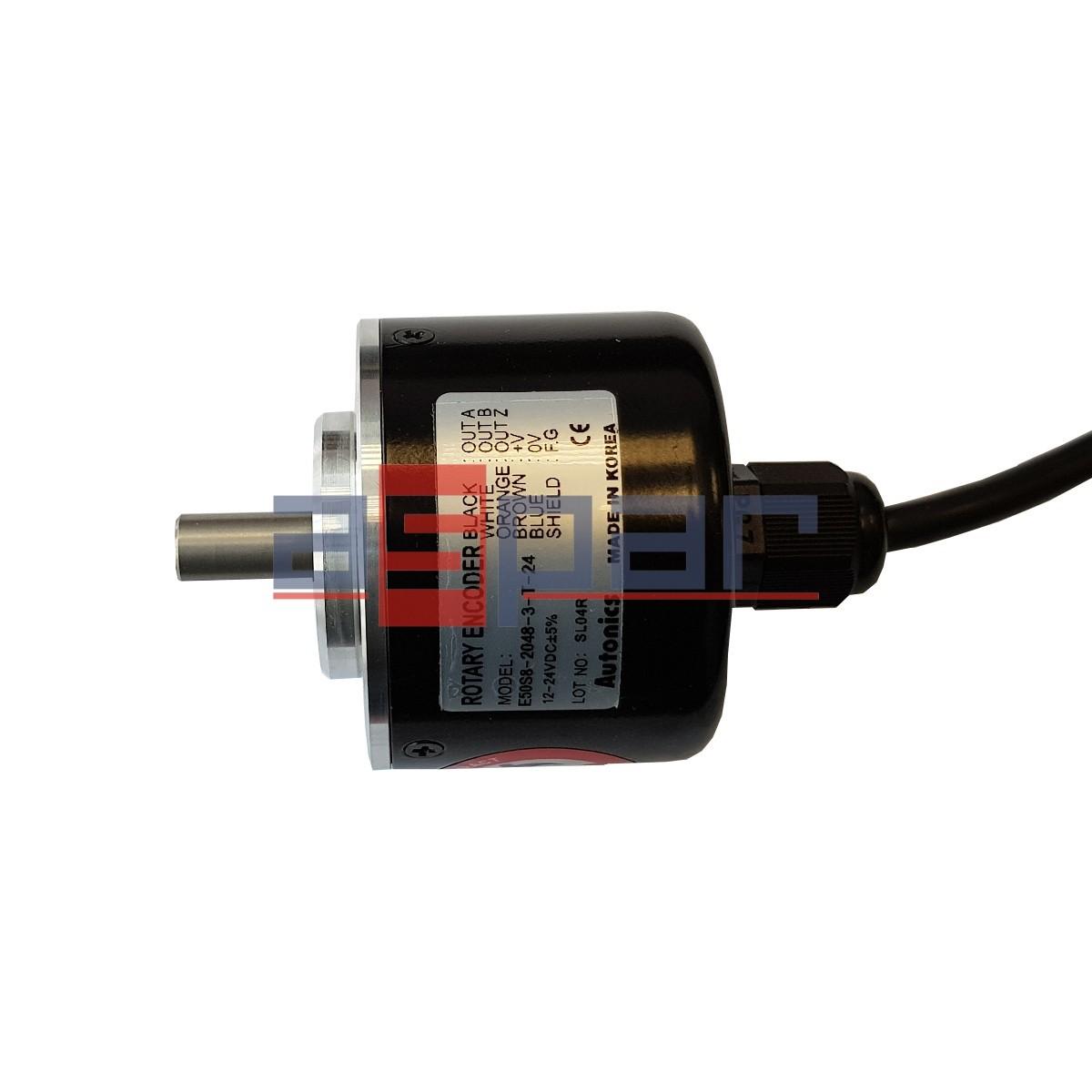 E50S8-2048-3-T-24 - enkoder inkrementalny z wałkiem