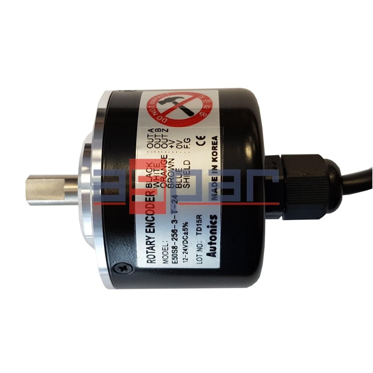 E50S8-256-3-T-24 - enkoder inkrementalny z wałkiem