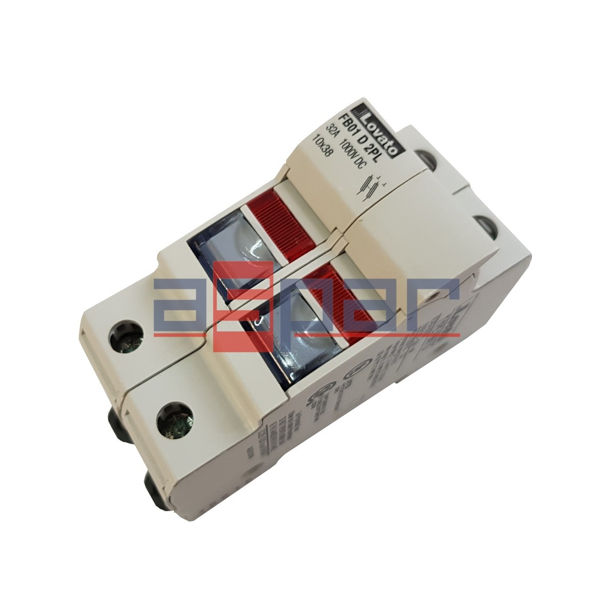 FB01D2PL - Podstawa bezpiecznika ze wskaźnikiem 10x38, 2 pola