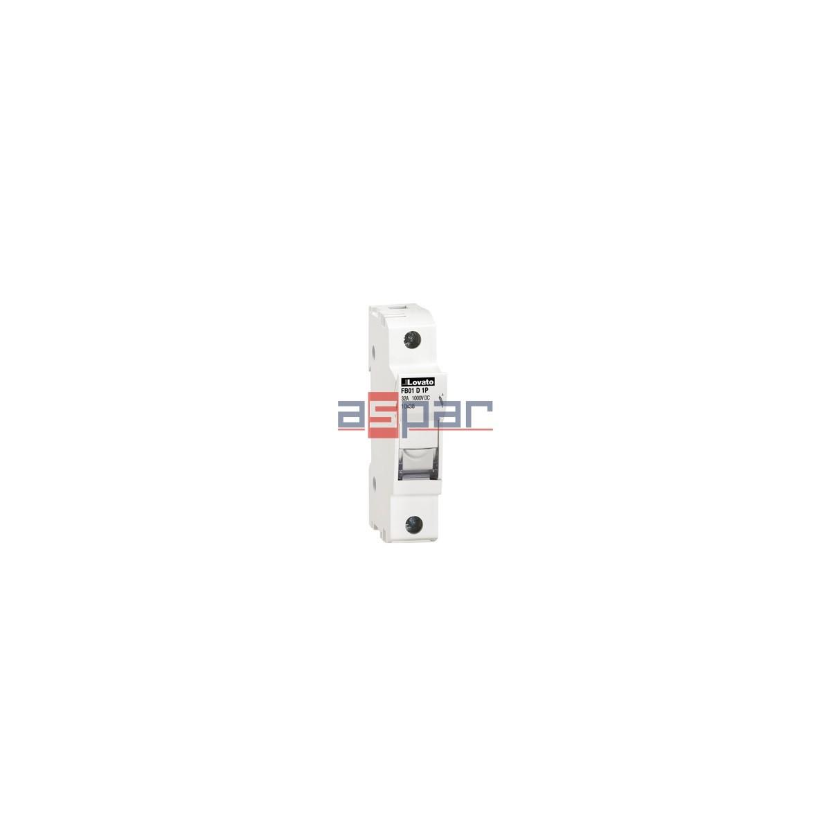 FB01D1P - Podstawa bezpiecznika 10x38, 1 pole