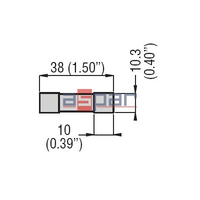 FE01D00600 - Bezpiecznik cylindryczny, typu gPV, 1000 VDC 6A