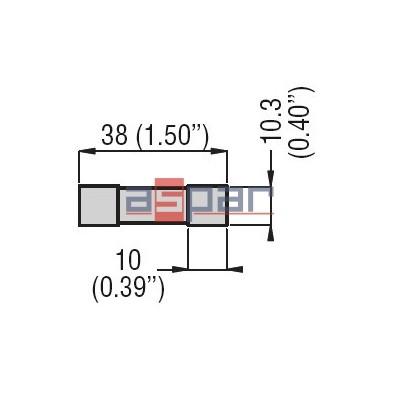 FE01D01000 - Bezpiecznik cylindryczny, typu gPV, 1000 VDC 10A